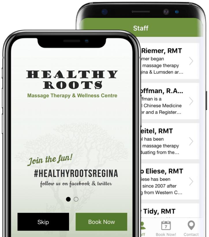 Healthy Roots Regina Mobile App